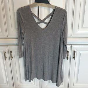Olivia Sky SZ S gray jersey fabric tunic